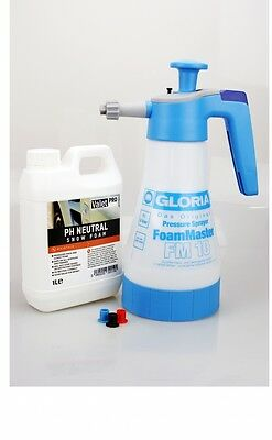 Gloria Foam Master FM10 Foam sprayer+ValetPRO neutral Snow Foam 1 Litre