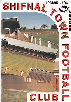 Shifnal Town V Pershore Town - Midland Football Alliance - 26/11/94