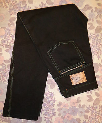 """Vintage 1950's 60's WAKEFIELDS ARMY STORES Black Jeans Empire Made 32-33"""""""