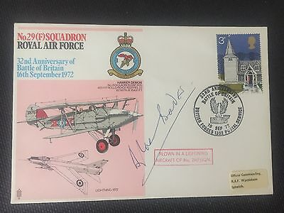 32nd ANNIVERSARY OF BATTLE OF BRITAIN COVER 1972 SIGNED DOUGLAS BADER.