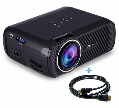 ELEPHAS LED Mini Multimedia Home Theater Video Projector 1200 Lumens for Movie