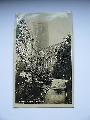 Real Photo RP Postcard St Clements Church Ipswich - Miss Sharp - 1907