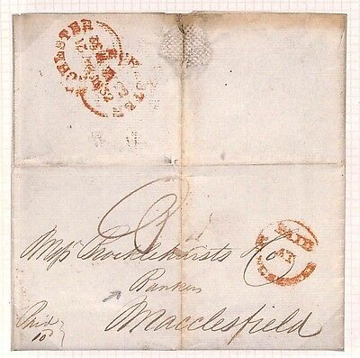 F132 1832 GB Fine Early Banking Item Contents Re-Unaccepted {samwells-covers}PTS