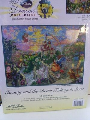 Beauty and the Beast Falling in Love Counted Cross Stitch Kit