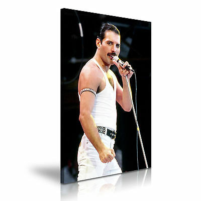 MUSIC & DANCE Freddie Mercury Queen Canvas Framed Print Wall Art ~ More Size