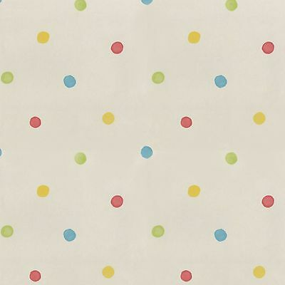 HOOPLA SPOTS POLKA DOT WALLPAPER 10m - WHITE / MULTI
