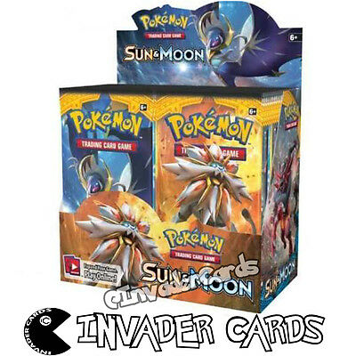 Pokemon Sun Moon Base Set Collection Booster Box Random 10 Card Pack New Sealed