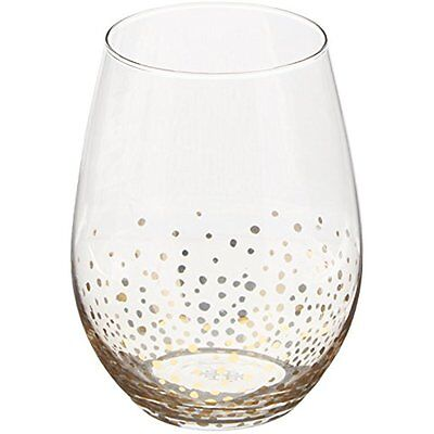 Wine Glasses Fitz and Floyd Luster Stemless Glasses (Set of 4), Gold