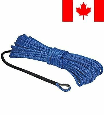 "Extreme Max 5600.3078 ""The Devil's Hair"" ATV / UTV Winch Rope, Blue"