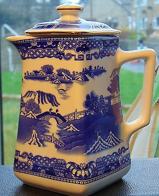 Ringtons - Wade Willow Pattern Tea / Coffee Pot, In Excellent Condition.