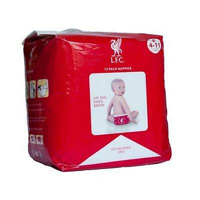 Official Licensed Football Product Liverpool Nappies Disposable 12 Pack Gift New
