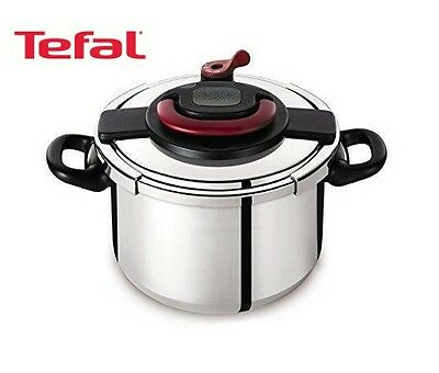 Tefal 6L Clipso Pressure Cooker Stainless Steel-10 Year Manufacturer's Guarantee