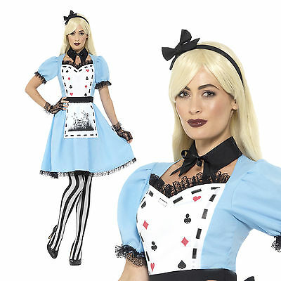 Smiffys Womens Deluxe Dark Tea Party Fancy Dress Costume Adults Book Week Outfit