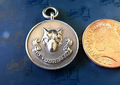 Rare Wolf Cubs Do Your Best Metal Fob Pendant, Holborn London Scouts Camp 1929