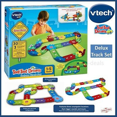 NEW VTech Baby Toot-Toot Drivers Deluxe Track Set - 30 Pieces & 3 Smartpoints