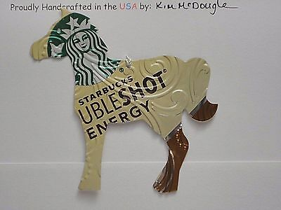 Embossed Horse Handmade Christmas Ornament Recycled Aluminum S Coffee Energy Can
