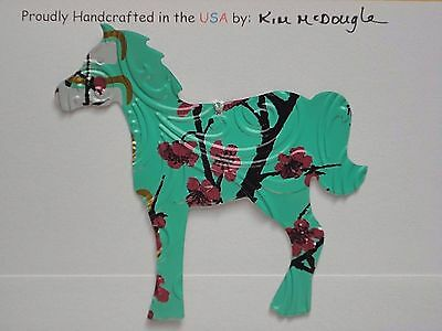 Embossed Horse Handmade Christmas Ornament Recycled Aluminum AZ Green Tea Can