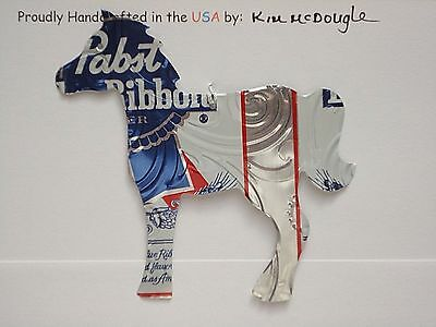 Embossed Horse Handmade Christmas Ornament Recycled Aluminum PBR Beer Can Art