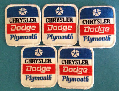 5 Lot Chrysler Dodge Plymouth Car Auto Club Jacket Farmer Hat Patches Crests