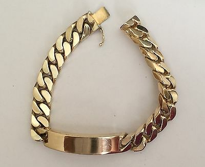 Miami Cuban Link Style Bracelet 69.4 Grams 10k Solid Yellow Gold Unisex Heavy