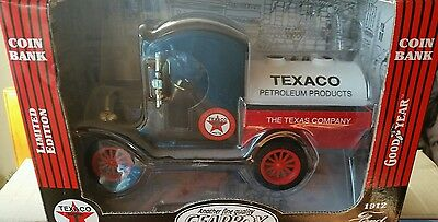 Texaco Limited Edition 1912 Ford Oil Tanker Coin Bank Die Cast 1:24 Scale