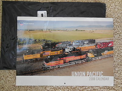 UPRR Union Pacific Railroad 2008 UP Official Stockholder BIG Wall Calendar NEW !