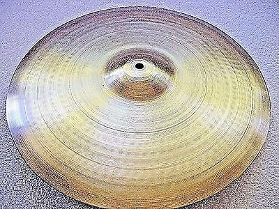 "VINTAGE Old 1970s 15"" ZYN 2 **Star Med THIN CRASH Cymbal *SUPERB 756g *WORLDSHIP"