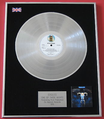 EAGLES One Of These Nights PLATINUM LP Disc Presentation