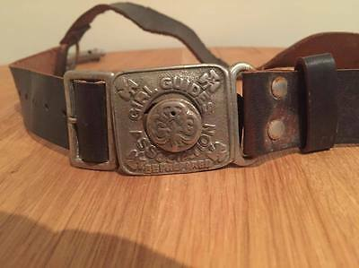 Vintage Girl guids belt with whistle