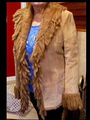 Suede Lew Martin Collection & Fur Western Style Jacket