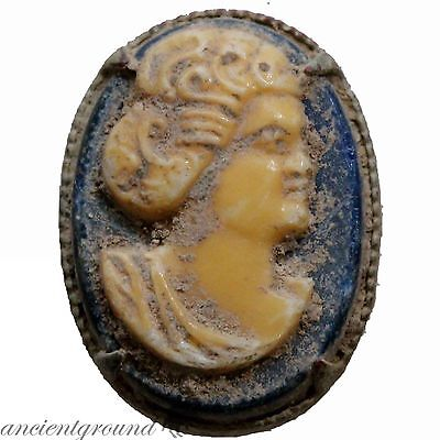 Late Post Medieval Uncertain Ring Stone With Female Bust