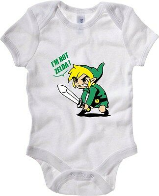 Baby Bodysuit T1057 i m not zelda film inspired