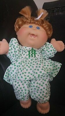 """Shamrock Print Playsuit for 14"""" Cabbage Patch Doll"""