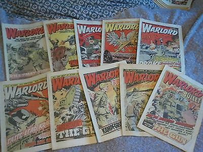 WARLORD (1978) Vintage Comic Bundle. Job lot.10 Issues. Craft/ Art/ Decoparge?