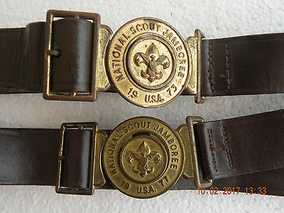 Boy Scouts  BSA Jamboree 1973 and 1977 & Belt Buckles