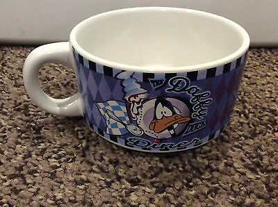 "DAFFY DUCK Soup Mug ""The Daffy Duck Dinner"" 1998 Warner Bros. 15 oz."