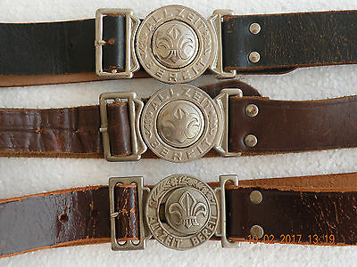 Boy Scouts Germany LOT OF 3 & Belt Buckles