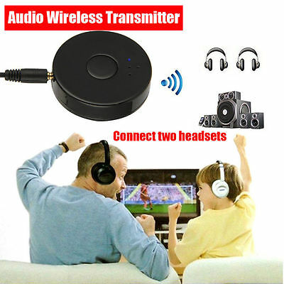 Wireless Bluetooth 4.0 Multi-Point Audio Transmitter For TV/DVD/MP3 3.5MM Jack