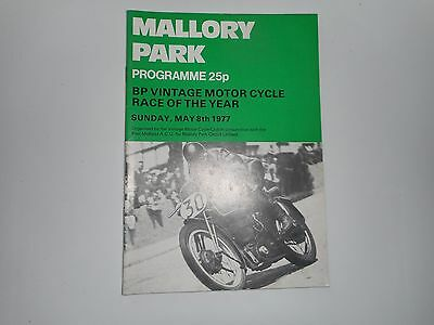 Motor Cycle / Bike Racing Programme : 1977  Mallory Park ~  Vintage Race Of Year