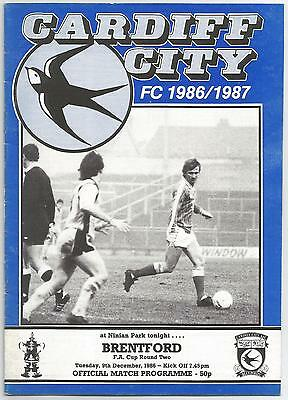 CARDIFF CITY v BRENTFORD (FA Cup 2nd Round 1986-87
