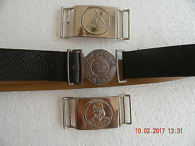 Boy Scouts Canada LOT OF 3 & Belt Buckles
