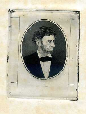 Abraham Lincoln Original Proof Engraving By Famed American Bank Note Engraver
