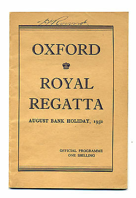 OXFORD ROYAL REGATTA Official Programme August Bank Holiday 1950