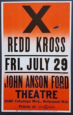 X / Redd Kross ORIGINAL Boxing Style Concert Poster 1988 COLBY The Blasters PunK