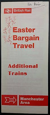 Scarce 1967 Manchester Area BR Additional Trains Handbill, Easter Bargain Travel