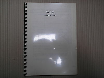 Suzuki RM 125 RM125 G parts catalogue A4 size USED