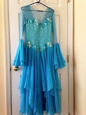 Blue Ballroom Dress (Size 8 - Medium)