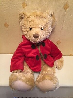 H Samuels Cubby Bear With Red Coat Soft Toy Comforter Teddy Plush
