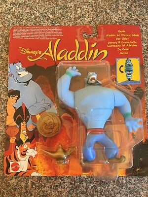 Disney Aladdin Rare Genie Face Changing Figure Coin And Lamp 1993 Mattel