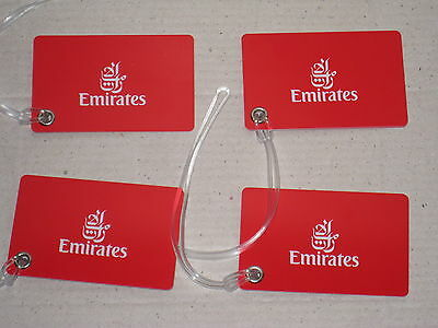 Emirates Airways Luggage Tags X 4 New Airbus Boeing